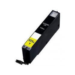 Cartucho  De Tinta Compatible CANON CLI551XL amarillo 6446B001