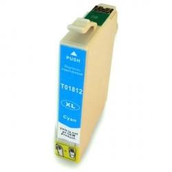 Cartucho De Tinta Compatible EPSON T1812 cian C13T18124010