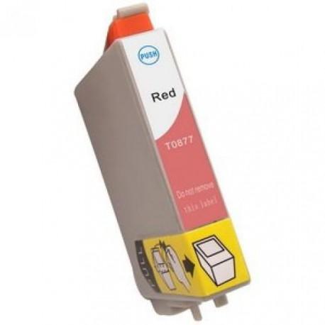Cartucho  De Tinta Compatible EPSON T0877 rojo C13T08774010