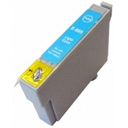 Cartucho De Tinta Compatible EPSON T0805 cian claro C13T08054010