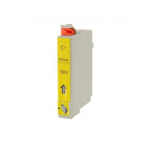 Cartucho  De Tinta Compatible EPSON T0874 amarillo C13T08744010