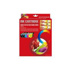 Pack de 5 Cartucho  De Tinta Compatible BROTHER LC-1240 4 colores LC1240BK, LC1240M, LC1240C y LC1240Y