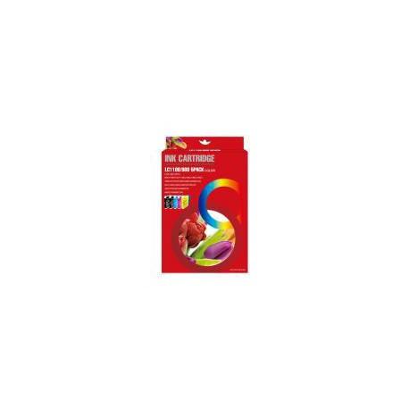 Pack de 5 Cartucho  De Tinta Compatible BROTHER LC-980 4 colores LC980BK, LC980C, LC980Y y LC980M