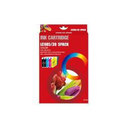 Pack de 5 Cartucho  De Tinta Compatible BROTHER LC-985 4 colores LC985BK, LC985C, LC985Y y LC985M