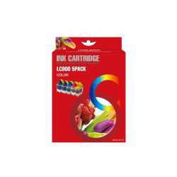 Pack de 5 Cartucho  De Tinta Compatible BROTHER LC-900 4 colores LC900BK, LC900M, LC900Y y LC900C