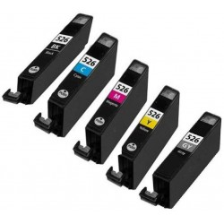 Pack de 5 Cartucho  De Tinta Compatible CANON CLI526 5 colores 4540B001, 4541B001, 4542B001, 4543B001 y 4544B001