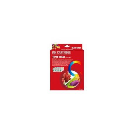 Pack de 5 Cartucho  De Tinta Compatible EPSON T0715 4 colores C13T07114010, C13T07124010, C13T07134010 y C13T07144010
