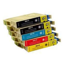 Pack de 5 Cartucho  De Tinta Compatible EPSON T0615 4 colores C13T06114010, C13T06124010, C13T06134010 y C13T06144010