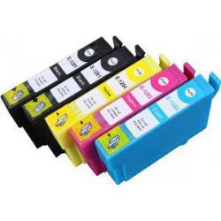 Pack de 5 Cartucho  De Tinta Compatible EPSON T1285 4 colores C13T12814011, C13T12824011, C13T12834011 y C13T12844011