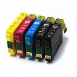 Pack de 5 Cartucho  De Tinta Compatible EPSON 18XL 4 colores C13T18114010, C13T18124010, C13T18134010 y C13T18144010