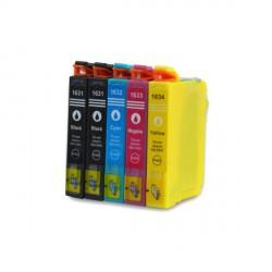 Pack de 5 Cartucho  De Tinta Compatible EPSON 16XL 4 colores C13T16314010, C13T16324010, C13T16334010 yC13T16344010