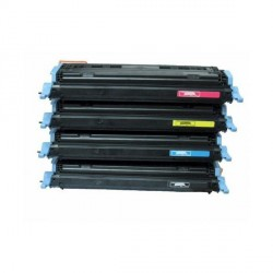 Pack de 4 Toner Compatible HP 124A 4 colores Q6000A, Q6002A, Q6003A y Q6001A