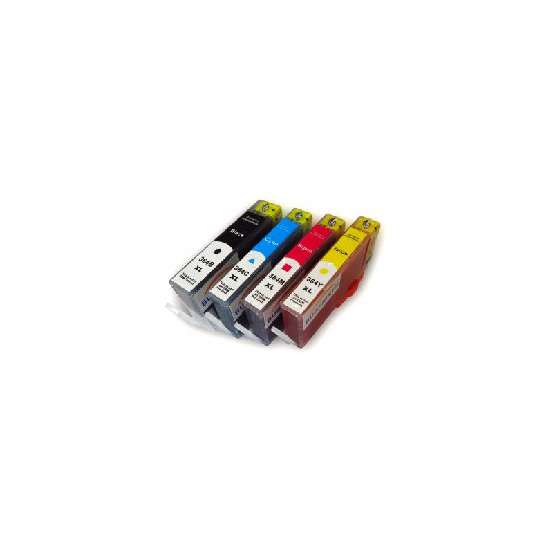 Pack de 5 Cartucho De Tinta Compatible HP 364XL 4 colores ...