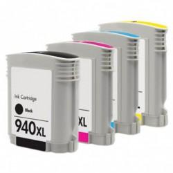 Pack de 5 Cartucho  De Tinta Compatible HP 940XL 4 colores 4906AE, C4909AE, C4908AE y C4907AE