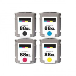 Pack de 5 Cartucho  De Tinta Compatible HP 88XL 4 colores C9396AE, C9391AE, C9392AE y C9393AE