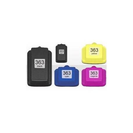 Pack de 5 Cartucho  De Tinta Compatible HP 363 4 colores C8719EE, C8772EE, C8771EE y C8773EE