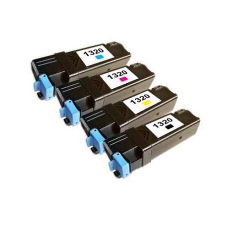 Pack de 4 Toner Compatible DELL 1320 4 colores 593-10258, 593-10259, 593-10260 y 593-10261