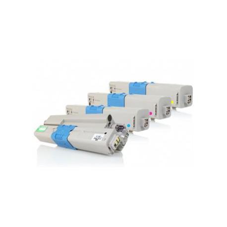 Pack de 4 Toner Compatible OKI C301 4 colores 44973536, 44973535, 44973534 y 44973533