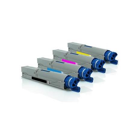 Pack de 4 Toner Compatible OKI C3300 4 colores 43459436, 43459332, 43459435, 43459331, 43459434, 43459330, 43459433 y 43459329