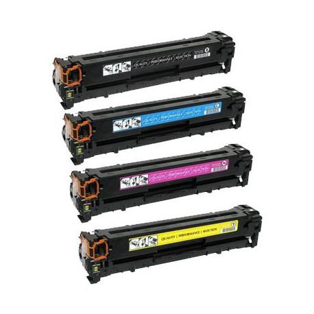 Pack de 4 Toner Compatible HP 131A 4 colores CF210X, CF211A,CF212A y CF213A