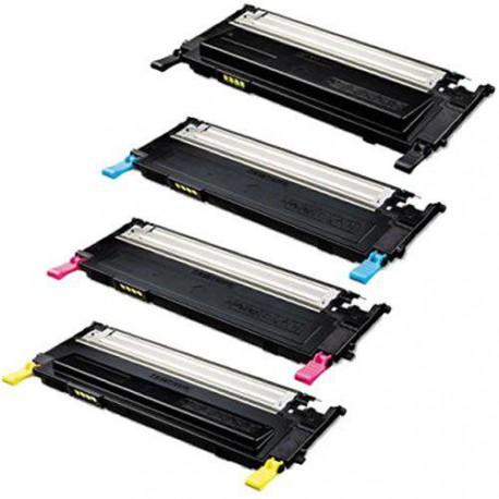 Pack de 4 Toner Compatible SAMSUNG CLP310 4 colores CLT-K4092S, CLT-C4092S,CLT-M4092S y CLT-Y4092S