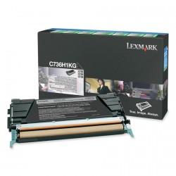Toner Original LEXMARK C736 negro C736H1KG