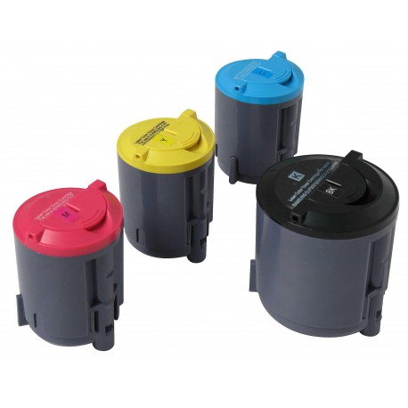 Pack de 4 Toner Compatible SAMSUNG CLP300 4 colores CLP-K300A, CLP-C300A, CLP-M300Ay CLP-Y300A