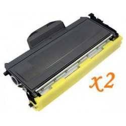 Pack de 2 Toner Compatible BROTHER TN2000 negro TN-2000