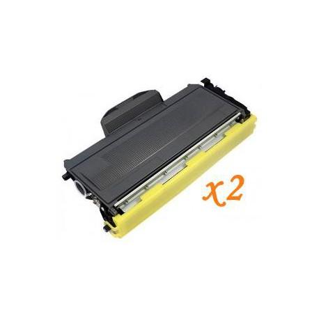 Pack de 2 Toner Compatible BROTHER TN2000 negro TN-2000