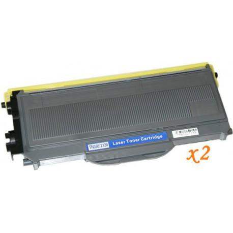 Pack de 2 Toner Compatible BROTHER TN2120 negro TN-2120