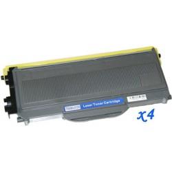 Pack de 4 Toner Compatible BROTHER TN2120 negro TN-2120