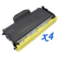 Pack de 4 Toner Compatible BROTHER TN2000 negro TN-2000