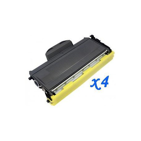 Pack de 4 Toner Compatible BROTHER TN2000 negro TN-2000