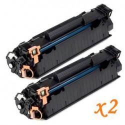 Pack de 2 Toner Compatible HP 85A negro CE285A