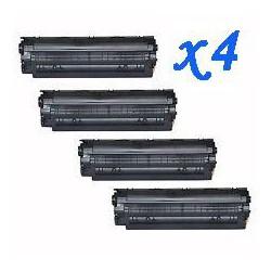 Pack de 4 Toner Compatible HP 85A negro CE285A