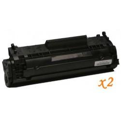 Pack de 2 Toner Compatible HP 12A negro Q2612A