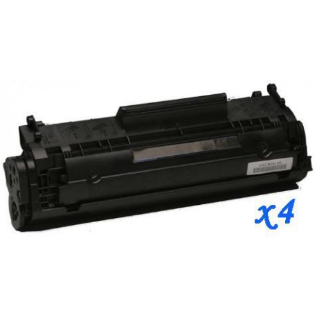 Pack de 4 Toner Compatible HP 12A negro Q2612A