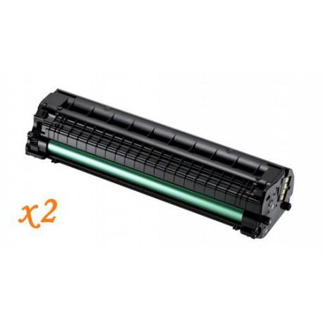 Pack de 2 Toner Compatible SAMSUNG ML1660 negro MLT-D1042S