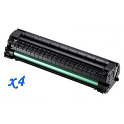 Pack de 4 Toner Compatible SAMSUNG ML1660 negro MLT-D1042S