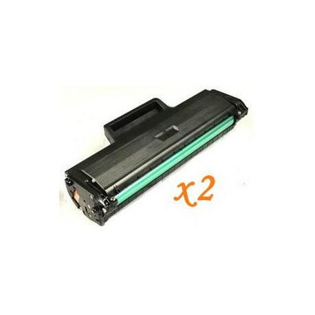 Pack de 2 Toner Compatible SAMSUNG ML2160 negro MLT-D101S