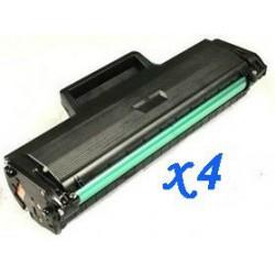 Pack de 4 Toner Compatible SAMSUNG ML2160 negro MLT-D101S