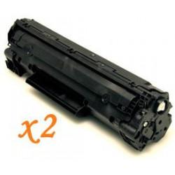 Pack de 2 Toner Compatible HP 35A negro CB435A