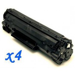 Pack de 4 Toner Compatible HP 35A negro CB435A