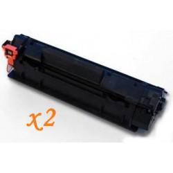 Pack de 2 Toner Compatible HP 78A negro CE278A