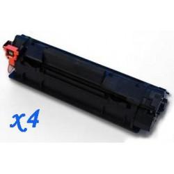 Pack de 4 Toner Compatible HP 78A negro CE278A